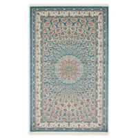 Unique Loom Nottingham Nain Design 5' X 8' Powerloomed Area Rug in Blue