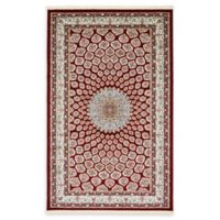 Unique Loom Nottingham Nain Design 5' X 8' Powerloomed Area Rug in Burgundy