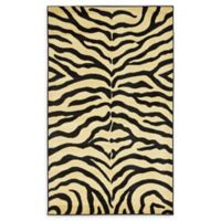 "Unique Loom Okapi Safari 3'3"" X 5'3"" Powerloomed Area Rug in Cream"