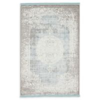Unique Loom Olwen Arcadia 4' X 6' Powerloomed Area Rug in Light Blue
