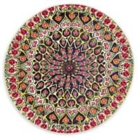 Unique Loom Pollack Arte 4' Round Powerloomed Area Rug