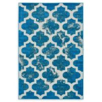 Unique Loom Nashville Transitional 4' X 6' Powerloomed Area Rug in Turquoise