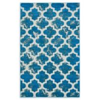 Unique Loom Nashville Transitional 5' X 8' Powerloomed Area Rug in Turquoise