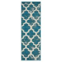 Unique Loom Nashville Transitional 6' Runner Powerloomed in Turquoise