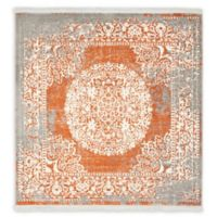 Unique Loom Olwen Arcadia 4' x 4' Power-Loomed Accent Rug in Terracotta