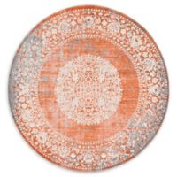 Unique Loom Olwen Arcadia 6' Round Power-Loomed Area Rug in Terracotta