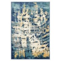 Unique Loom Mosman Ethereal 4' x 6' Power-Loomed Area Rug in Navy