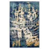 Unique Loom Mosman Ethereal 5' x 8' Power-Loomed Area Rug in Navy