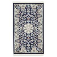 "Unique Loom Newcastle Nain Design 3'3"" X 5' Powerloomed Area Rug in Navy"