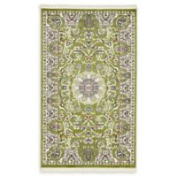 "Unique Loom Newcastle Nain Design 3'3"" X 5' Powerloomed Area Rug in Green"