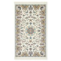 "Unique Loom Newcastle Nain Design 3'3"" X 5' Powerloomed Area Rug in Ivory"