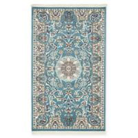 "Unique Loom Newcastle Nain Design 3'3"" X 5' Powerloomed Area Rug in Blue"