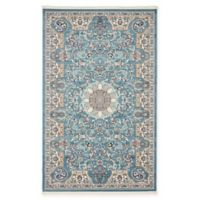 Unique Loom Newcastle Nain Design 5' X 8' Powerloomed Area Rug in Blue