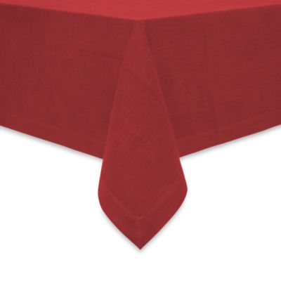 Attractive Rustic 70 Inch X 90 Inch Oblong Tablecloth In Red