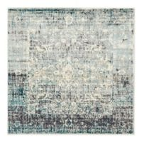 Unique Loom Myrtle Cambridge 6' Square Area Rug in Light Blue