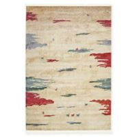 """Native Collection Tribal Modern 4'3"""" x 6' Area Rug in Cream"""