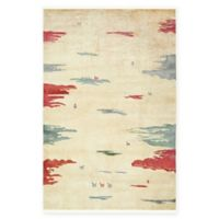 "Native Collection Tribal Modern 5'5"" x 8' Area Rug in Cream"
