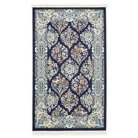 Unique Loom Sheffield Nain Design 3' X 5' Powerloomed Area Rug in Navy