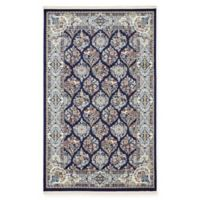 Unique Loom Sheffield Nain Design 5' X 8' Powerloomed Area Rug in Navy