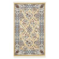 Unique Loom Sheffield Nain Design 3' X 5' Powerloomed Area Rug in Beige