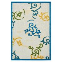Unique Loom Savannah Transitional 6' x 9' Area Rug in Blue
