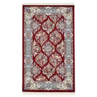 Unique Loom Jefferson Nain 3' x 5' Power-Loomed Area Rug in Burgundy