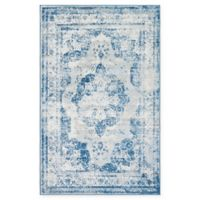 Unique Loom Salle Garnier Sofia 5' x 8' Power-Loomed Area Rug in Blue