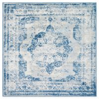 Unique Loom Salle Garnier Sofia 6' x 6' Power-Loomed Area Rug in Blue