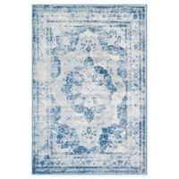 Unique Loom Salle Garnier Sofia 6' x 9' Power-Loomed Area Rug in Blue