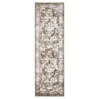 Unique Loom Sofia 6'7 Runner Rug in Light Brown