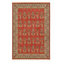 Unique Loom Savoy Nomad 6' x 9' Area Rug in Red