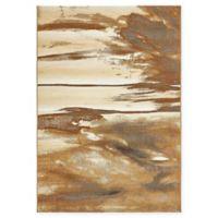 """Unique Loom Shore Eden Outdoor 5'5"""" X 8' Powerloomed Area Rug in Brown"""
