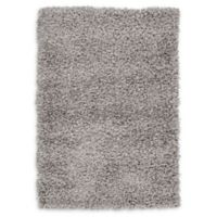 "Unique Loom Solid Shag 2'2"" X 3' Powerloomed Area Rug in Cloud Gray"
