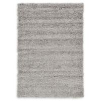 Unique Loom Solid Shag 4' X 6' Powerloomed Area Rug in Cloud Gray