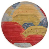 Unique Loom Sophia Nomad 6' Round Powerloomed Area Rug in Red