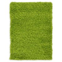 """Unique Loom Solid Shag 2'2"""" X 3' Powerloomed Area Rug in Grass Green"""