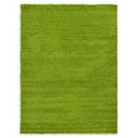 Unique Loom Solid Shag 7' X 10' Powerloomed Area Rug in Grass Green