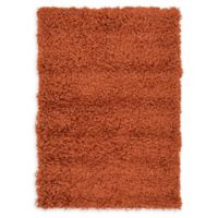 """Unique Loom Solid Shag 2'2"""" X 3' Powerloomed Area Rug in Terracotta"""