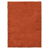 Unique Loom Solid Shag 7' X 10' Powerloomed Area Rug in Terracotta