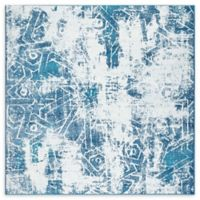 Unique Loom Rainier Sofia 6' X 6' Powerloomed Area Rug in Blue