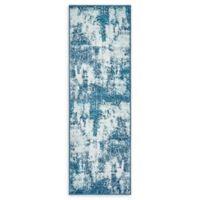 "Unique Loom Rainier Sofia 6'7"" Runner Powerloomed in Blue"
