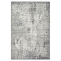 Unique Loom Rainier Sofia 5' X 8' Powerloomed Area Rug in Dark Gray