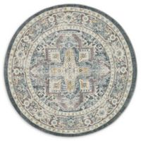 "Unique Loom Prado Havana 5'5"" Round Powerloomed Area Rug in Gray"
