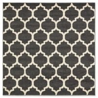 Unique Loom Philadelphia Trellis 6' Square Area Rug in Black