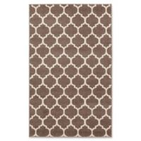 Unique Loom Philadelphia Trellis 3'3 x 5'3 Area Rug in Light Brown