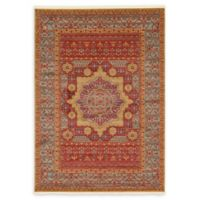 Unique Loom Quincy Palace 7' X 10' Powerloomed Area Rug in Red