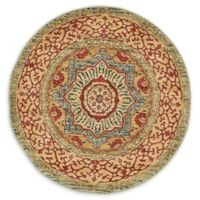 "Unique Loom Quincy Palace 3'3"" Round Powerloomed Area Rug in Light Blue"