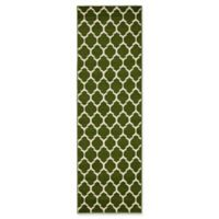 Unique Loom Philadelphia Trellis 2' x 6' Runner in Dark Green