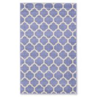 Unique Loom Philadelphia Trellis 3'3 x 5'3 Area Rug in Light Blue