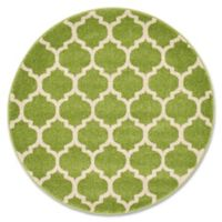 Unique Loom Philadelphia Trellis 3'3 Round Area Rug in Light Green